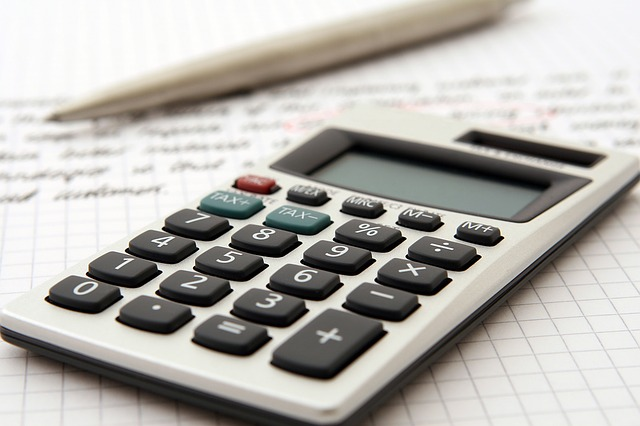 A calculator, ready for your moving estimate